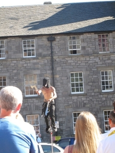 performer on the Royal Mile