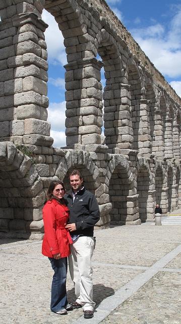 In Segovia Roman Aqueduct