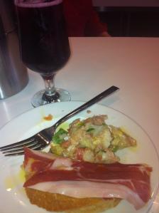 Tinto De Verano (red Wine and soda) with Tapa