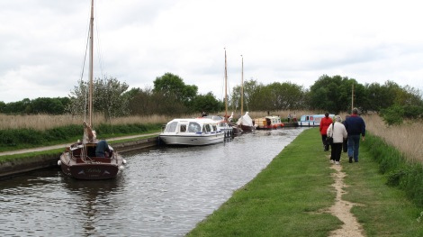 Norfolk Broads - man made river and lake system for boating