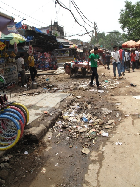 Old Delhi between Red Fort and Markets - yuck
