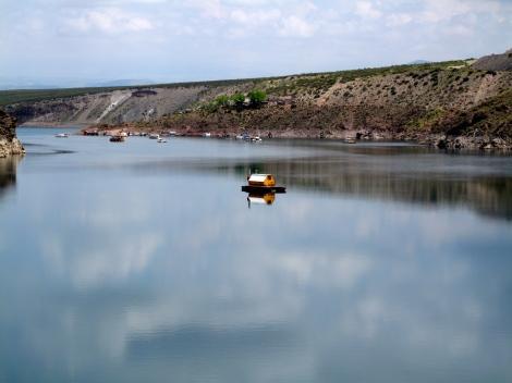 Random House Boats on damn-made-lake