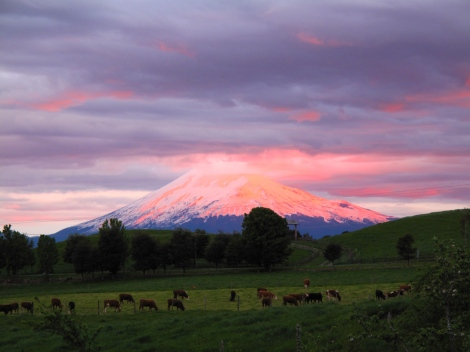 Sunset on Volcano Orsorno