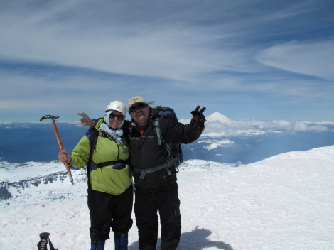 Me and the guide that helped me reach the top