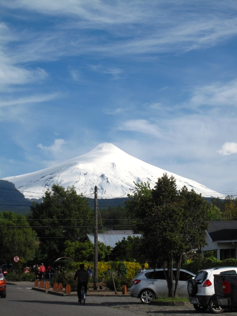 volcano from Town