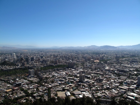 Old Santiago from to top of the Funicular