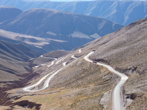 Road from San Pedro to Salta